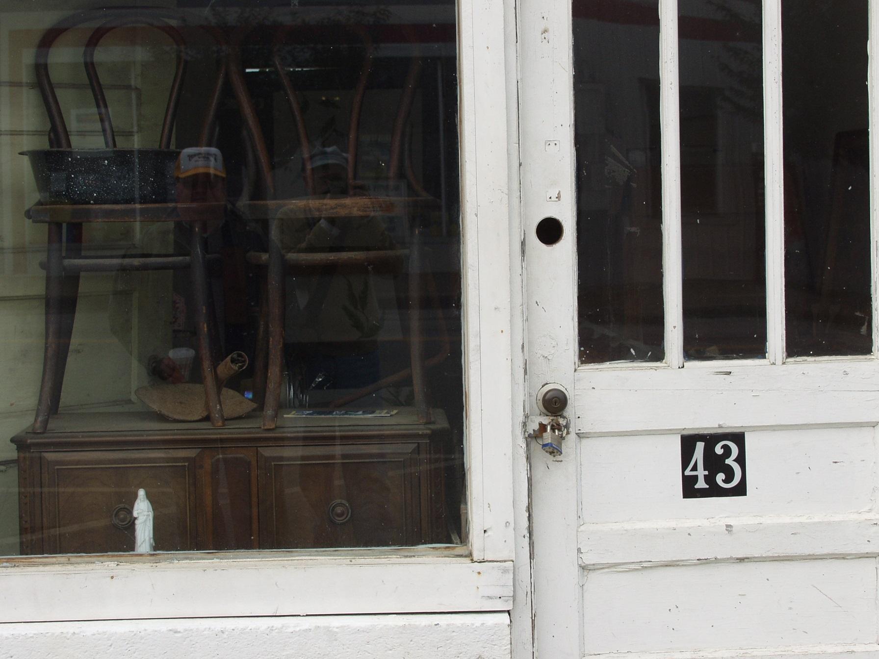 Reflection Portrait In Window, Murphy NC 10/12/2003