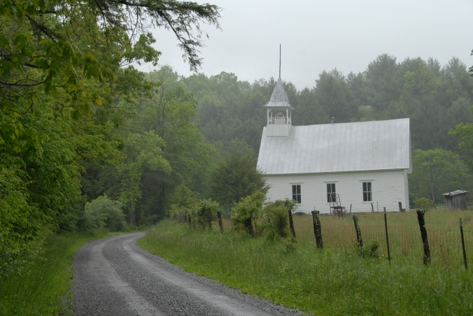 Grayson Co VA Church and Curve. Photo Roy Burke